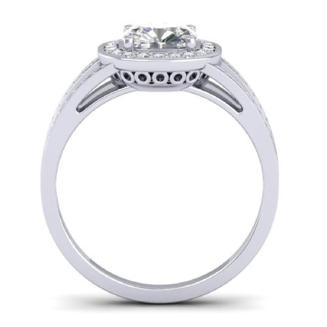 1.5 CTW Cushion Cut Certified VS/SI Diamond Art Deco - 3