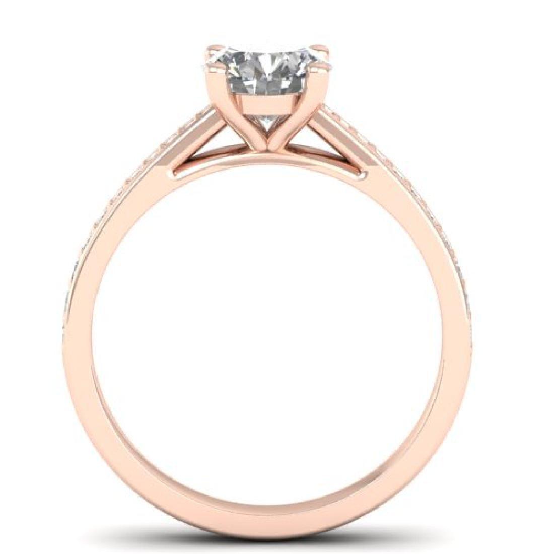 1.26 CTW Certified VS/SI Diamond Solitaire Art Deco - 3