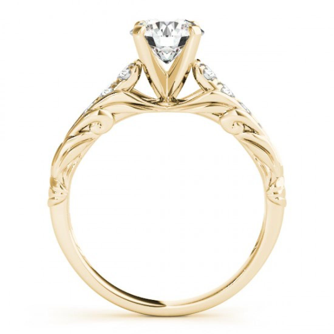 0.7 CTW Certified VS/SI Diamond Solitaire Ring 14K - 2