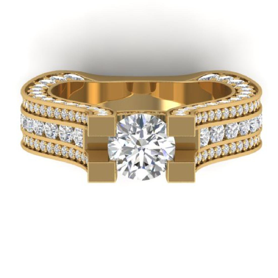 4.5 CTW Certified VS/SI Diamond Art Deco Micro Ring 18K