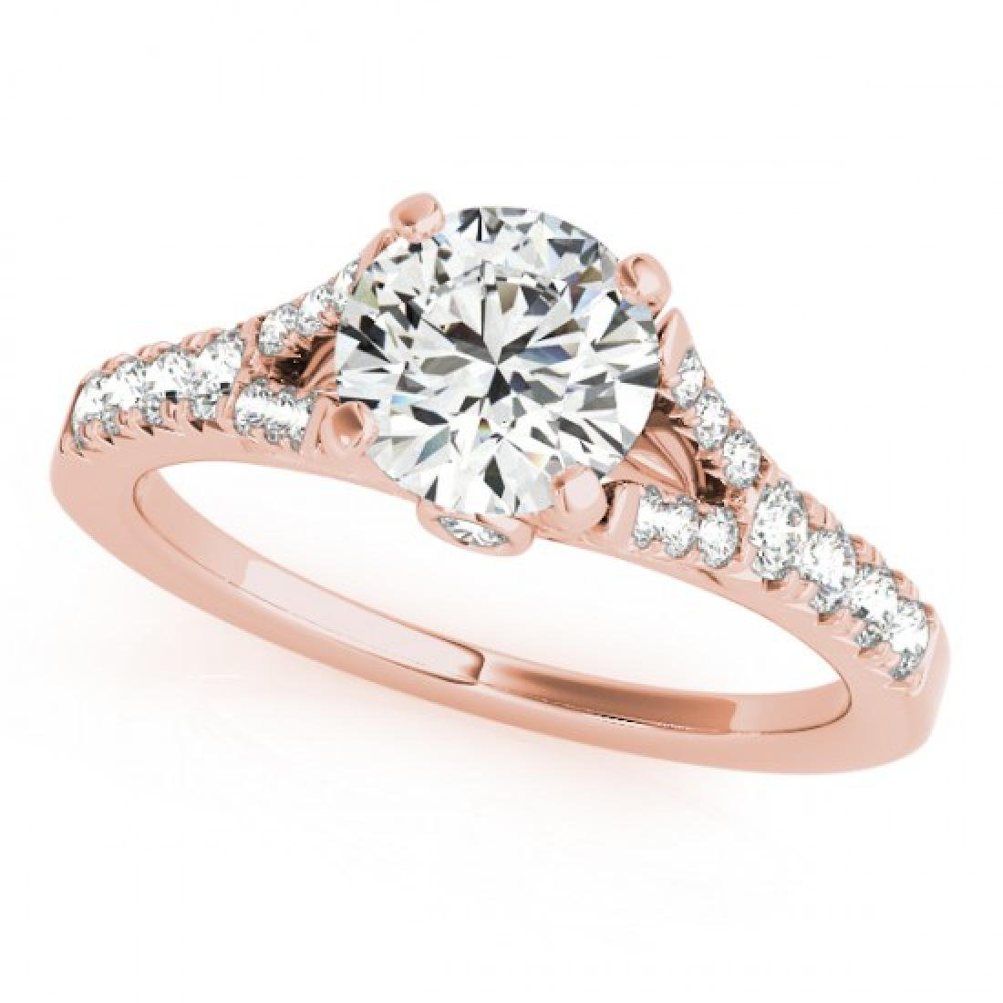 1 CTW Certified VS/SI Diamond Solitaire Ring 14K Rose