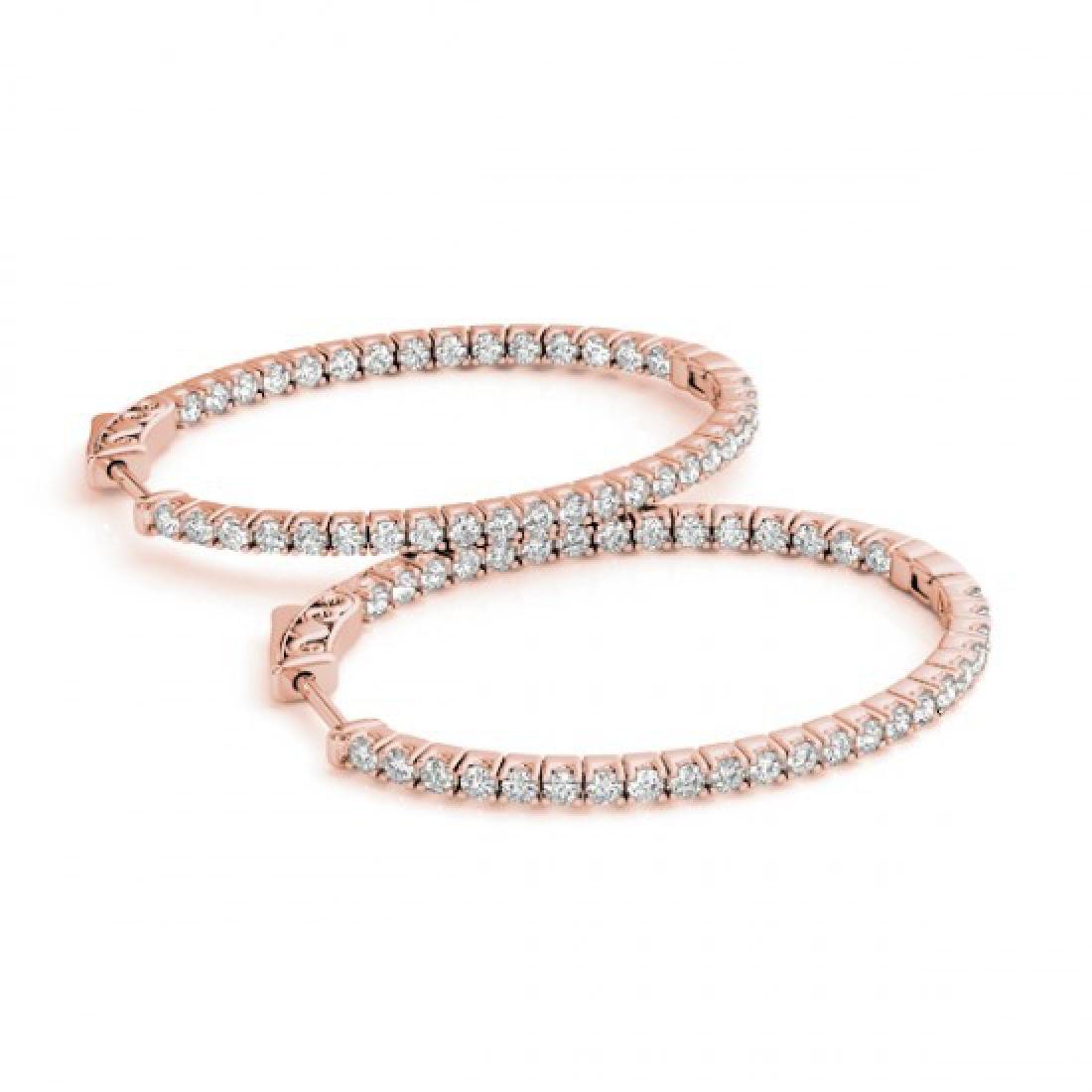 2.25 CTW Diamond VS/SI Certified 37 Mm Hoop Earrings