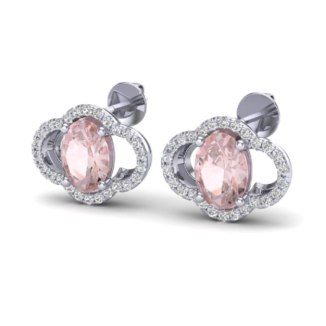 3.50 CTW Morganie & Micro Pave VS/SI Diamond Earrings