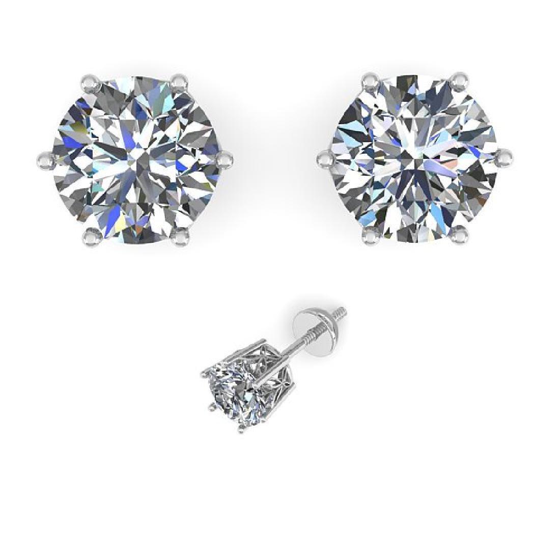 1.05 CTW Certified VS/SI Diamond Stud Art Deco Earrings - 2