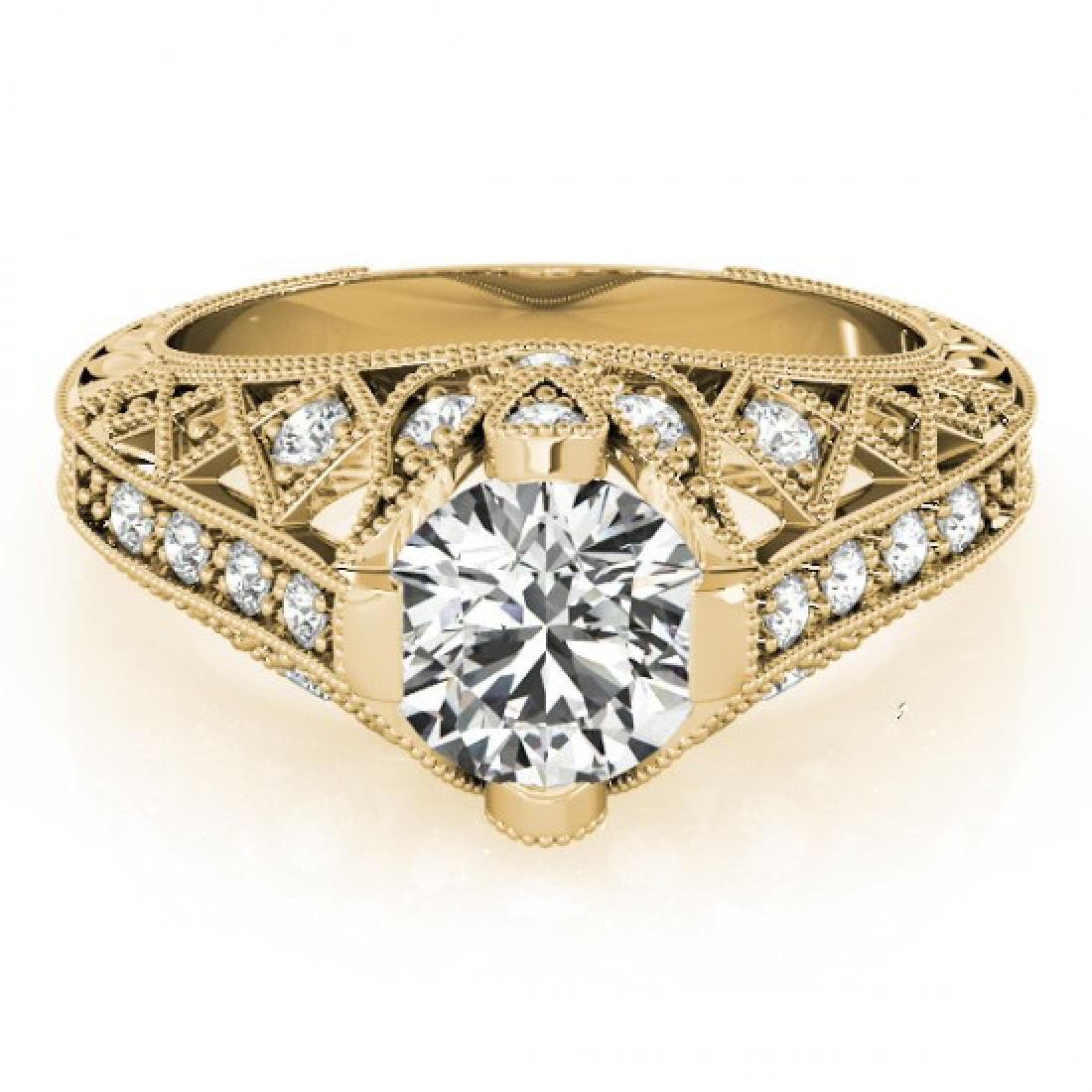1.25 CTW Certified VS/SI Diamond Solitaire Antique Ring
