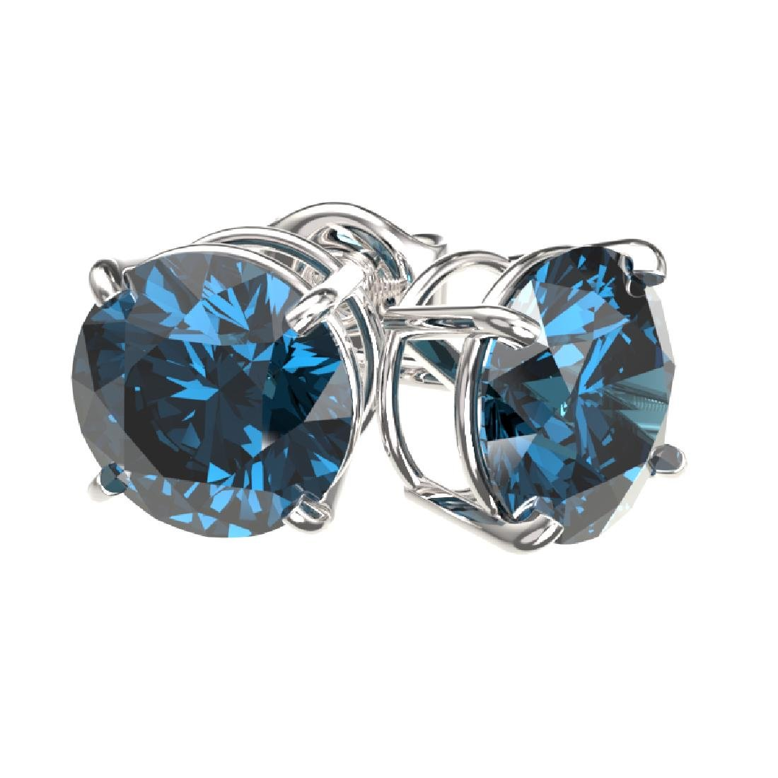 1.95 CTW Certified Intense Blue SI Diamond Solitaire - 3