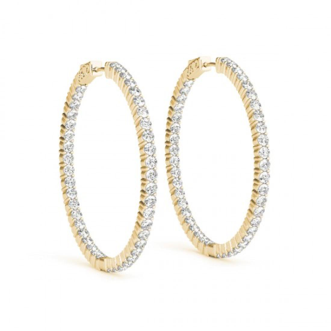 1.5 CTW Diamond VS/SI Certified 20 Mm Hoop Earrings 14K