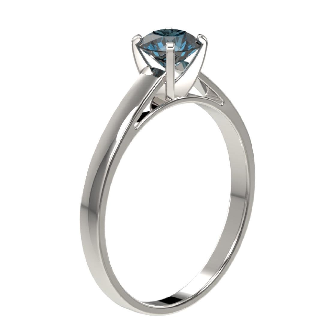 0.73 CTW Certified Intense Blue SI Diamond Solitaire - 3