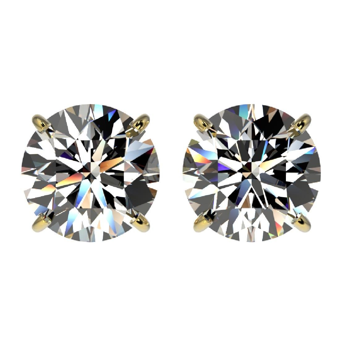 3 CTW Certified H-SI/I Quality Diamond Solitaire Stud