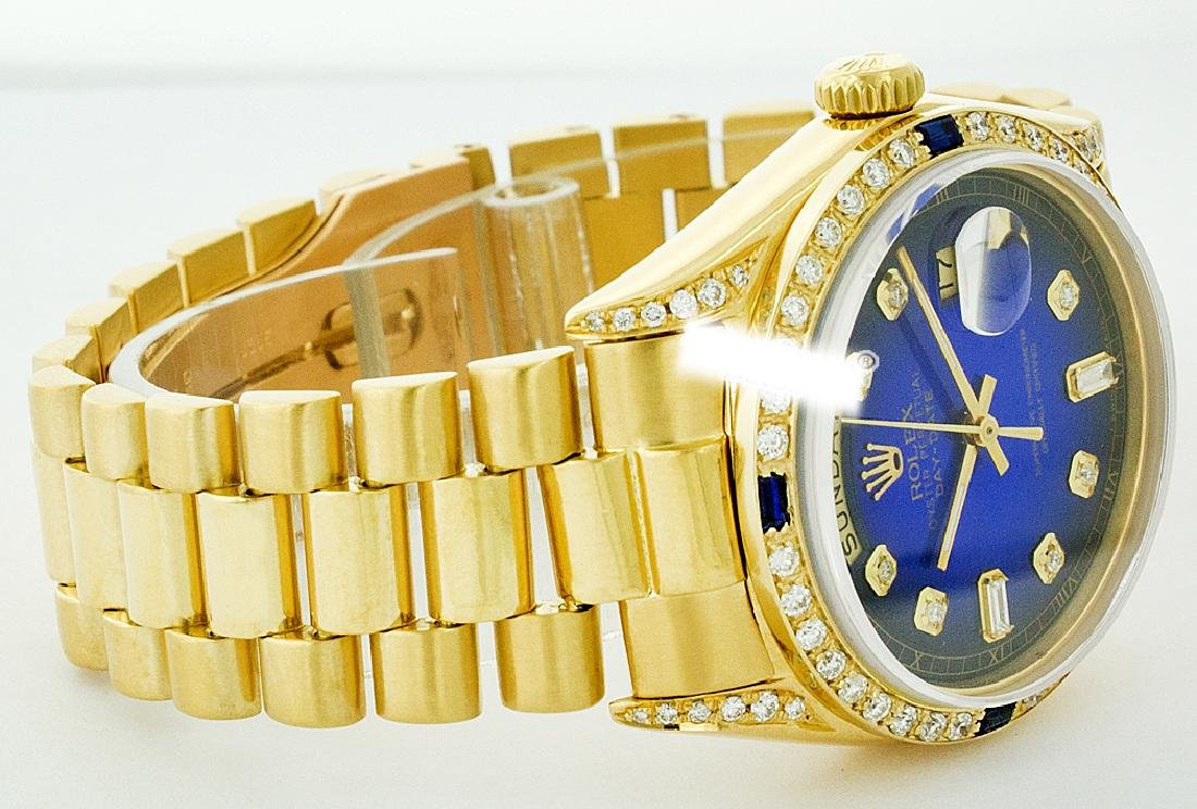 Rolex Men's 18K Yellow President, QuickSet, Diam Dial & - 2