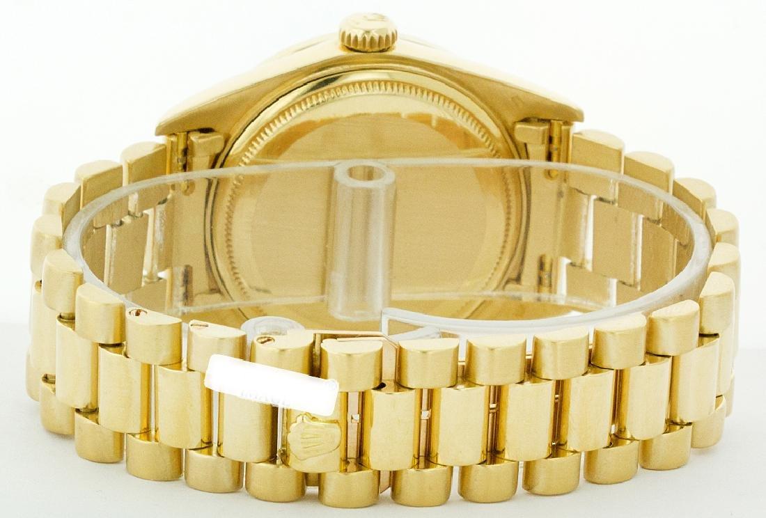 Rolex Men's 18K Yellow President, QuickSet, Diam Dial & - 4