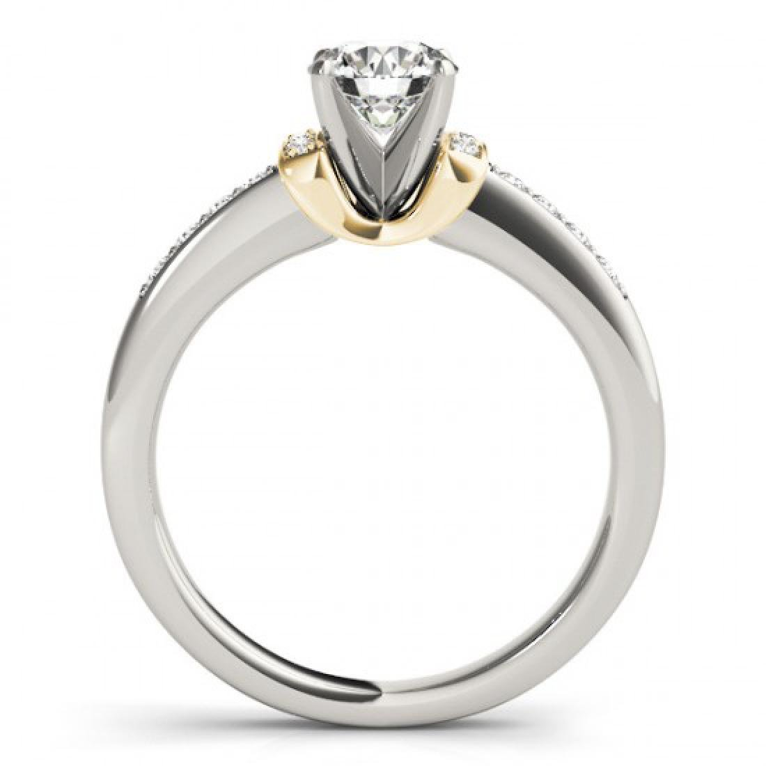 0.86 CTW Certified VS/SI Diamond Solitaire Ring 14K - 2
