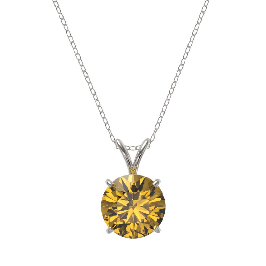 2.03 CTW Certified Intense Yellow SI Diamond Solitaire - 3