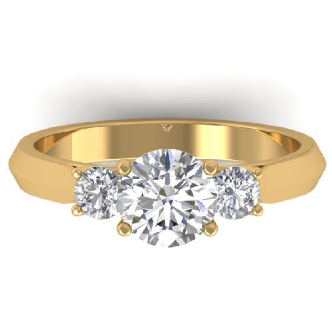 1.5 CTW Certified VS/SI Diamond Solitaire 3 Stone Ring