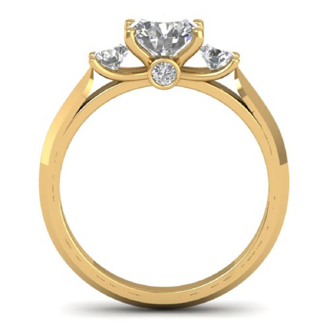 1.5 CTW Certified VS/SI Diamond Solitaire 3 Stone Ring - 3