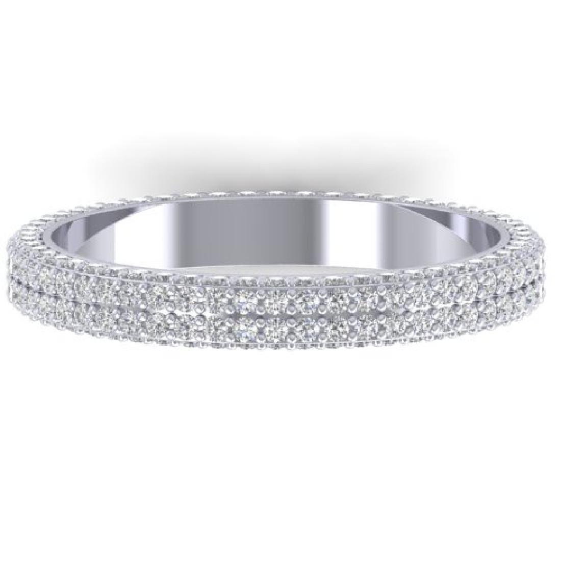 1.75 CTW Certified VS/SI Diamond Micro Eternity Ring