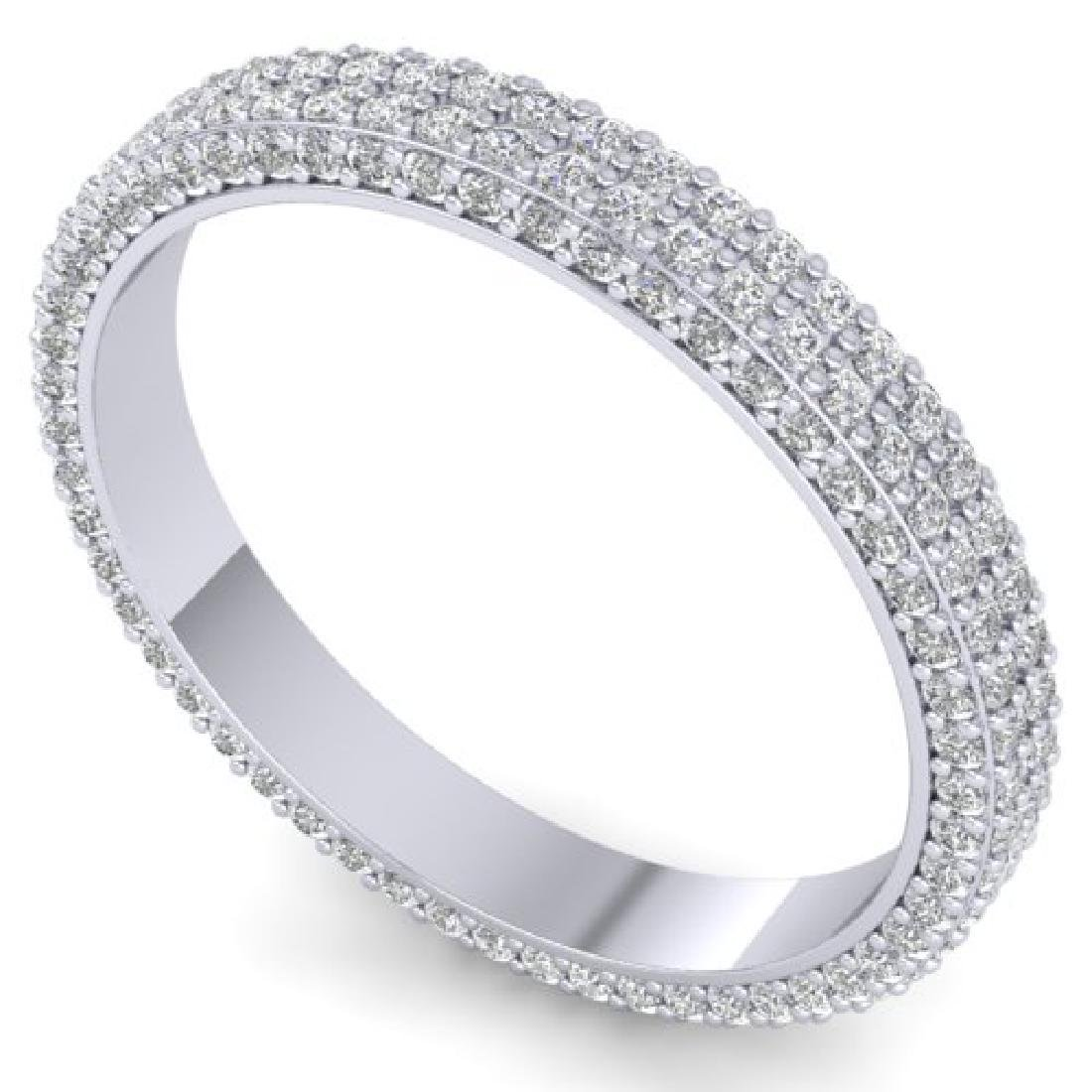 1.75 CTW Certified VS/SI Diamond Micro Eternity Ring - 2