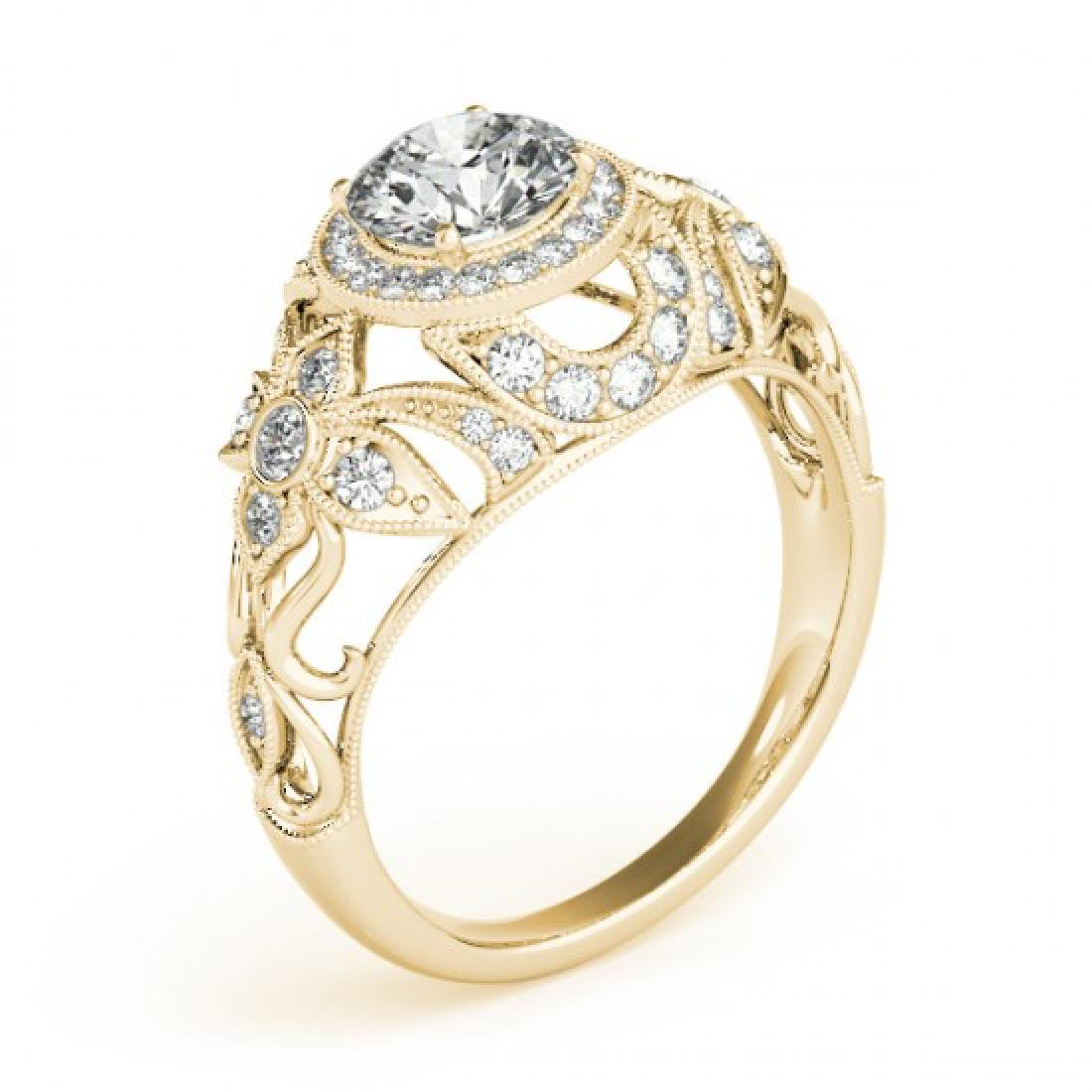 1.25 CTW Certified VS/SI Diamond Solitaire Antique Ring - 3
