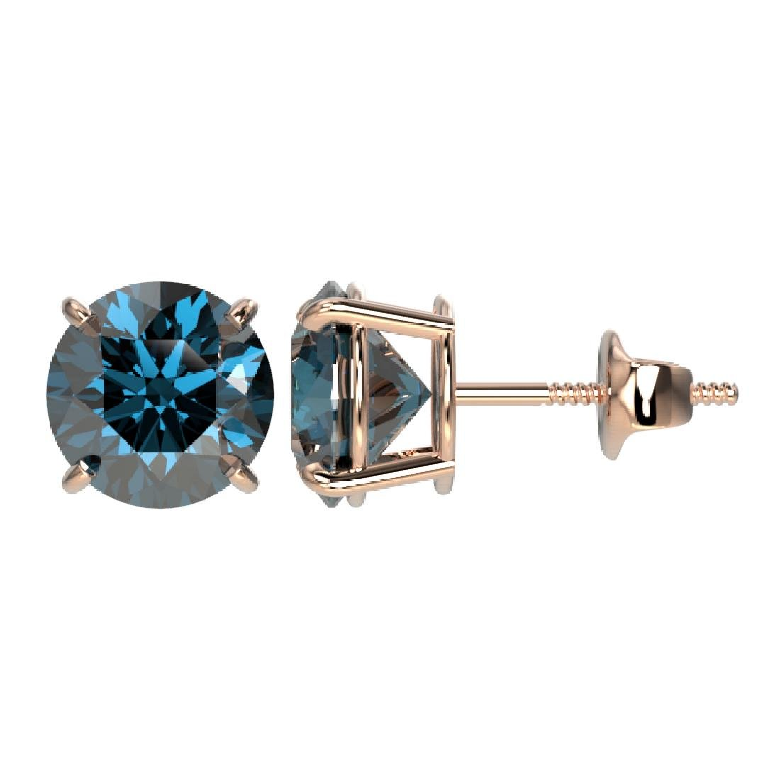 2.56 CTW Certified Intense Blue SI Diamond Solitaire - 2