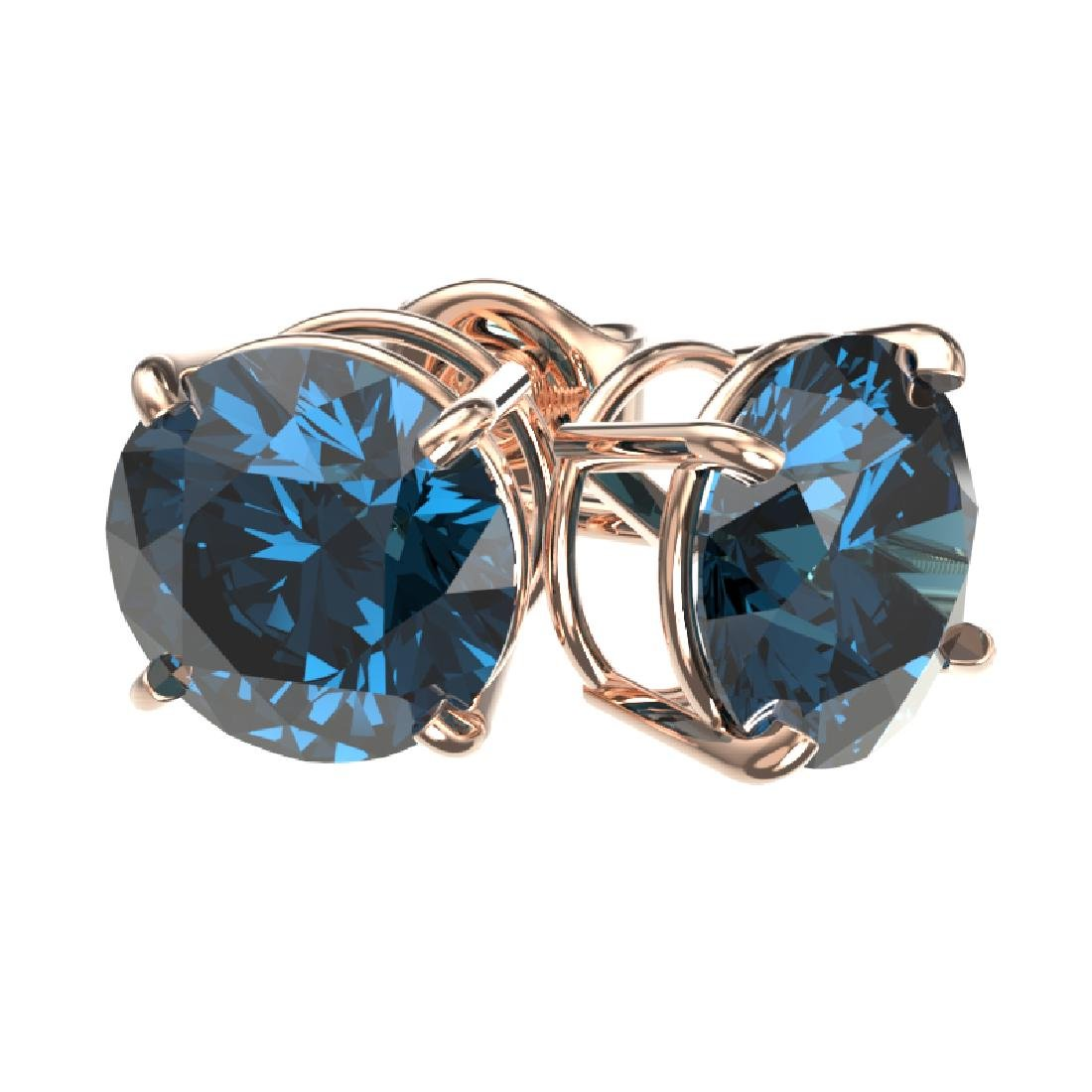 2.56 CTW Certified Intense Blue SI Diamond Solitaire - 3