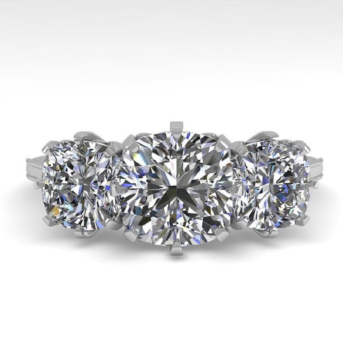 2 CTW Solitaire VS/SI Cushion Diamond 14K White Gold