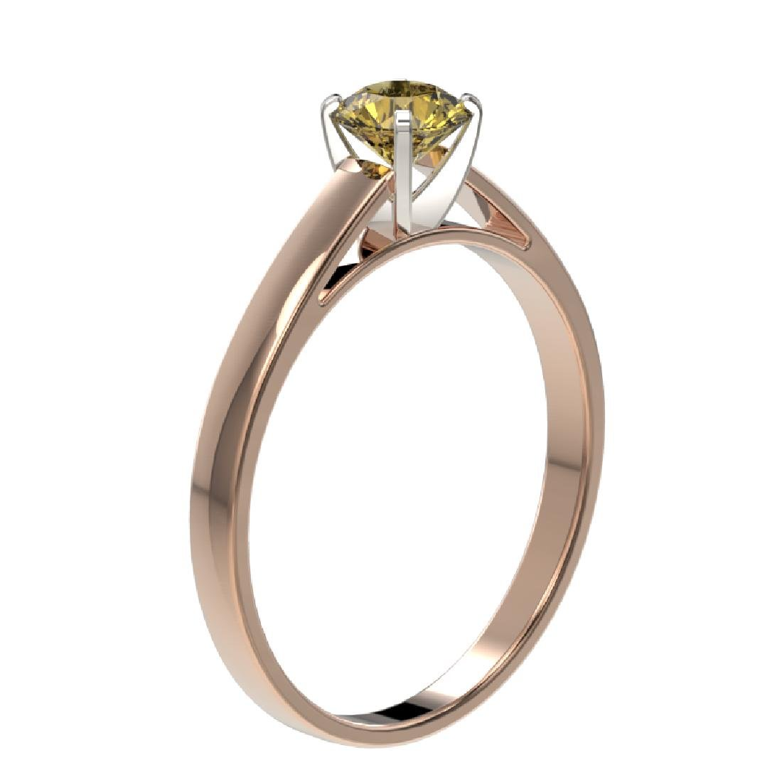 0.54 CTW Certified Intense Yellow SI Diamond Solitaire - 3