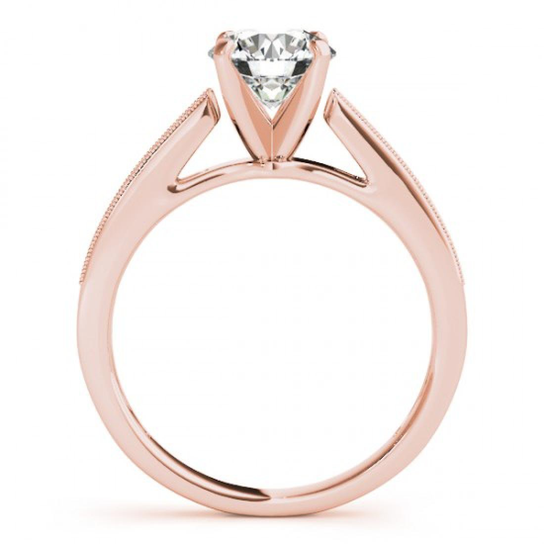 0.7 CTW Certified VS/SI Diamond Solitaire Ring 14K Rose - 2