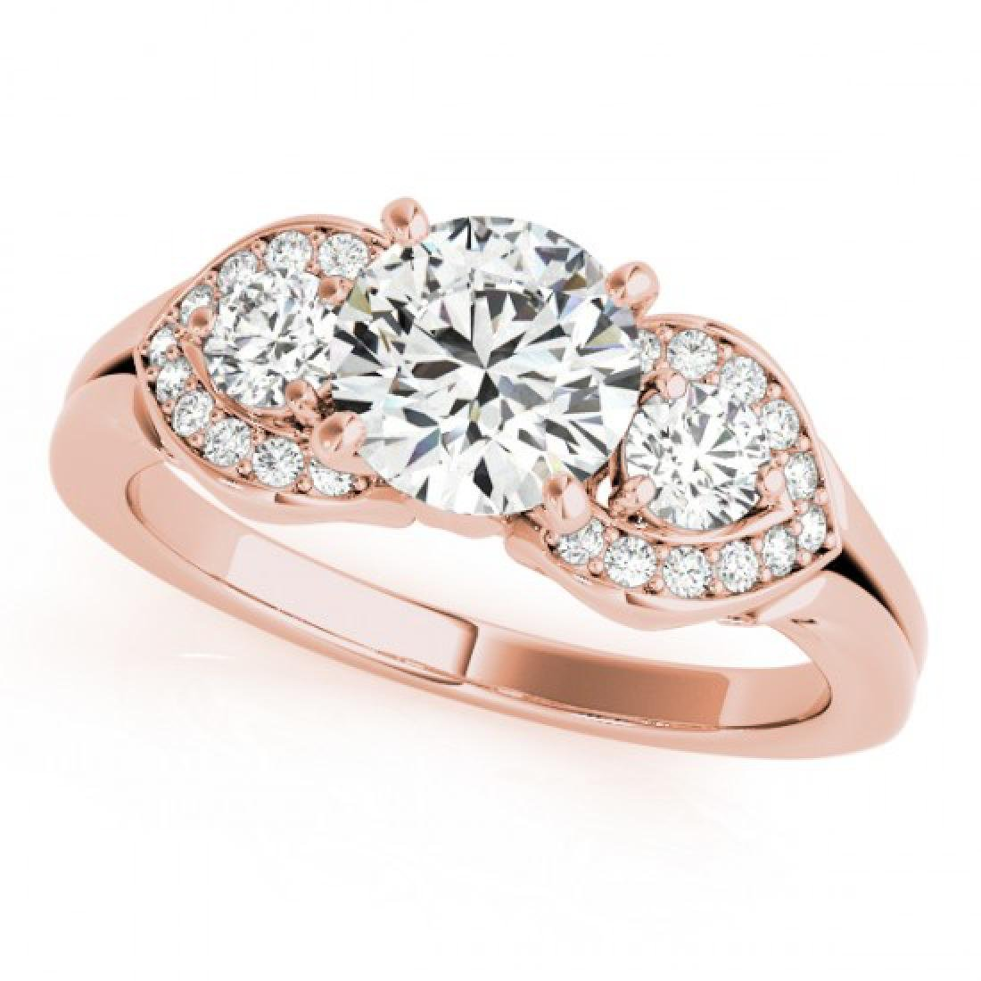 1.7 CTW Certified VS/SI Diamond 3 Stone Solitaire Ring