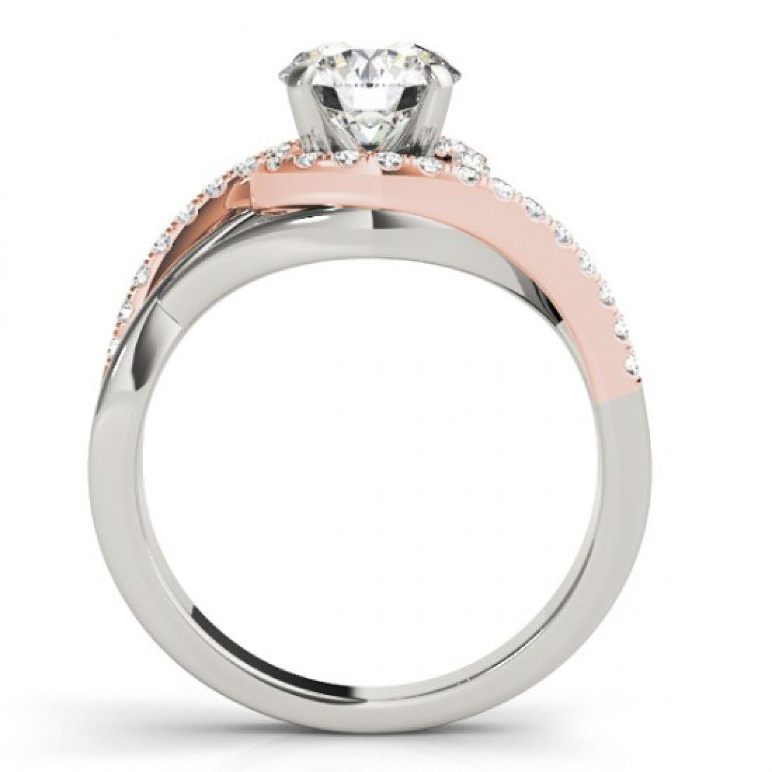 1.3 CTW Certified VS/SI Diamond Bypass Solitaire ring - 2