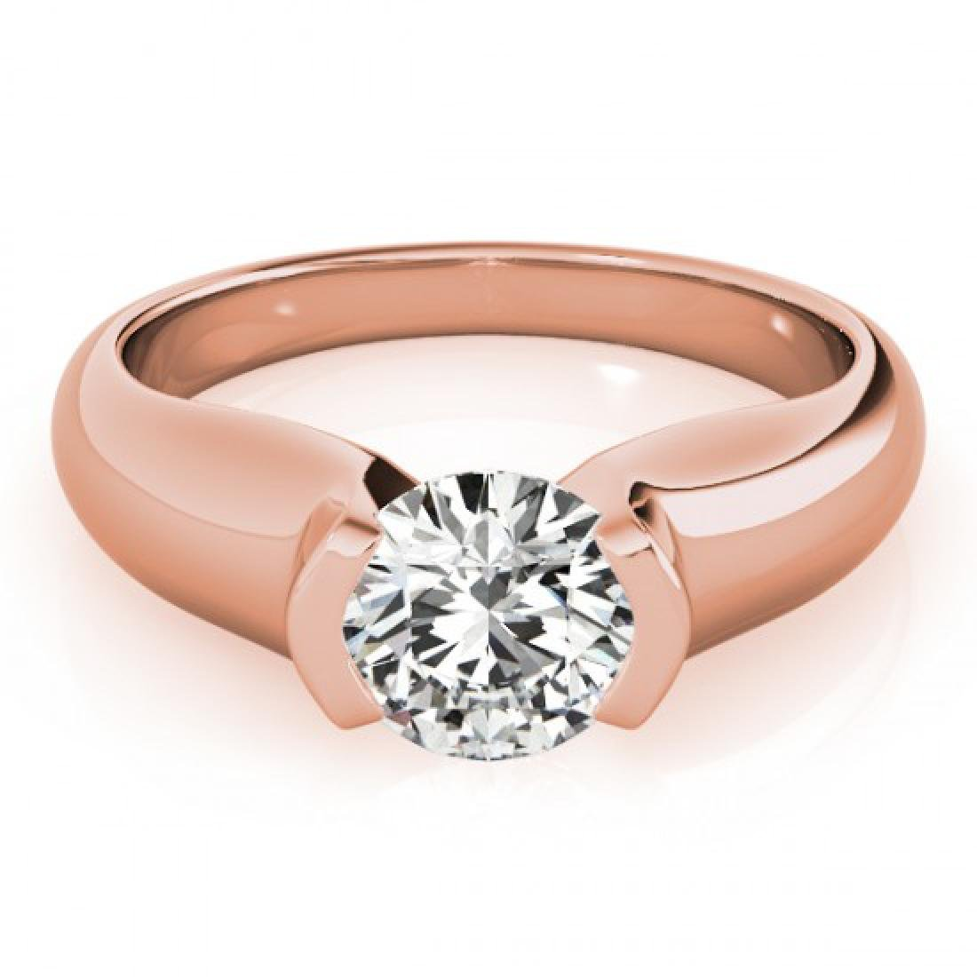 0.5 CTW Certified VS/SI Diamond Solitaire Ring 14K Rose