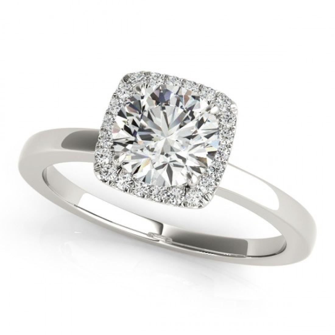 0.65 CTW Certified VS/SI Diamond Solitaire Halo Ring