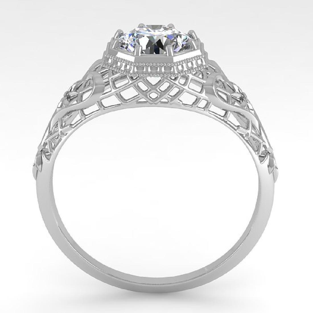 1.01 CTW VS/SI Diamond Solitaire Ring 14K White Gold - 3