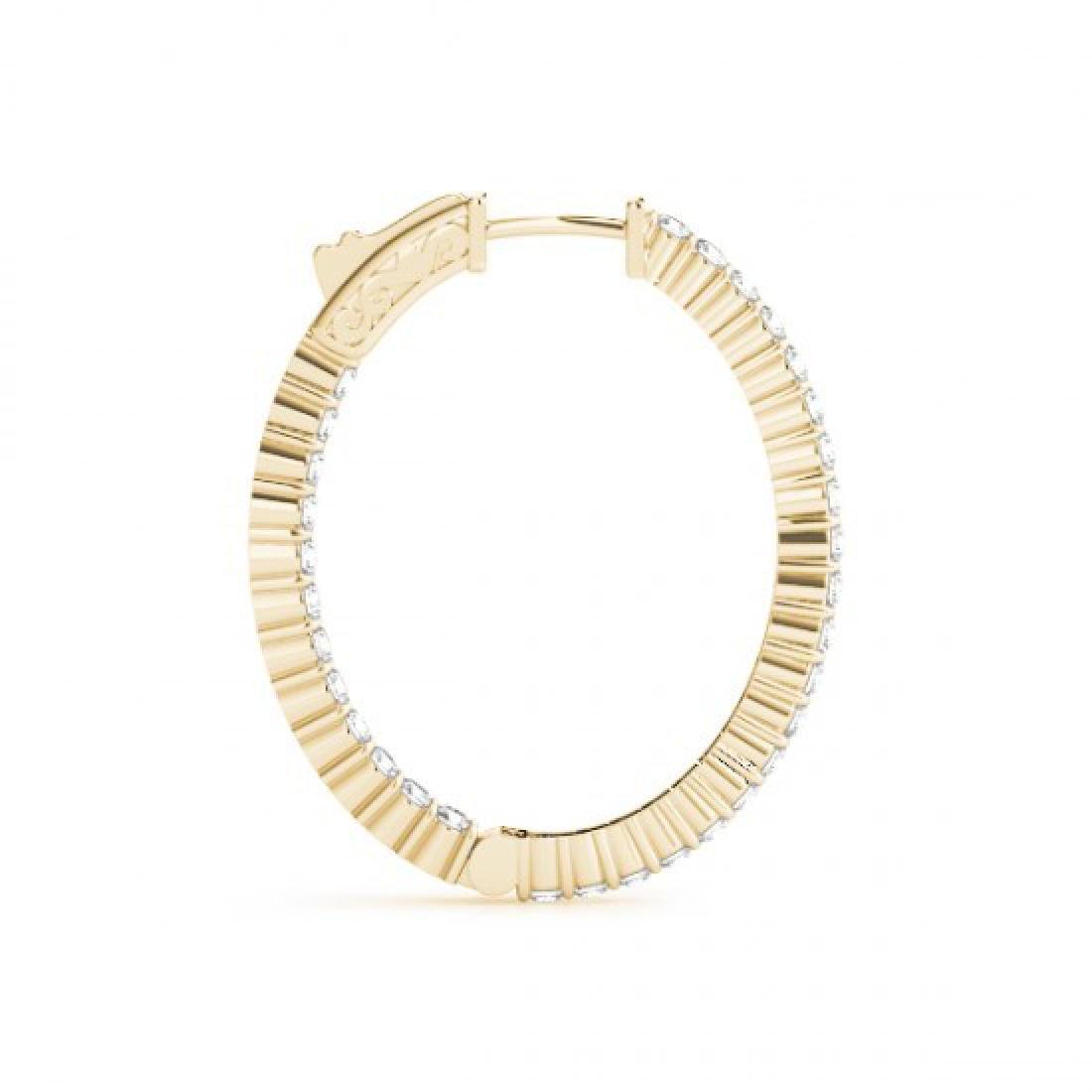 3.25 CTW Diamond VS/SI Certified 25 Mm Hoop Earrings - 3