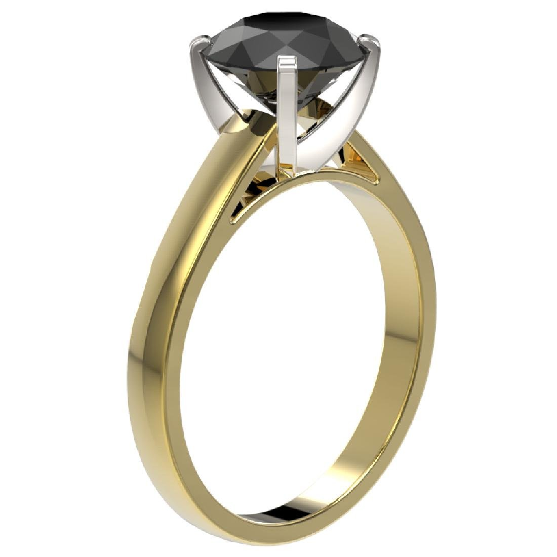 2.50 CTW Fancy Black VS Diamond Solitaire Engagement - 3