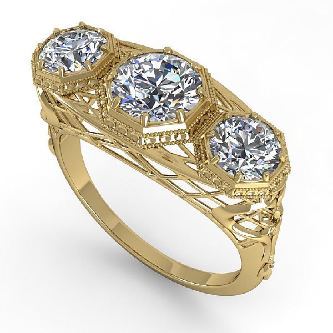 2 CTW VS/SI Diamond Ring 14K Yellow Gold - 2