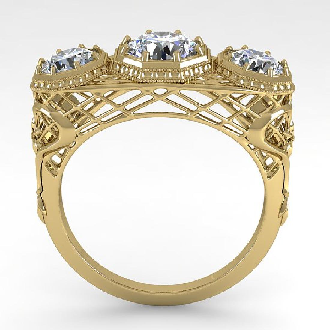 2 CTW VS/SI Diamond Ring 14K Yellow Gold - 3
