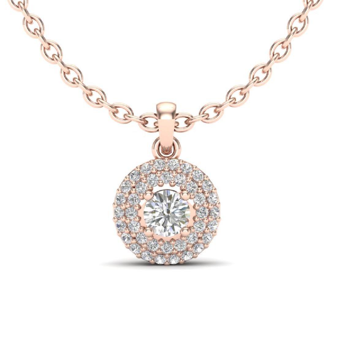 0.60 CTW Micro Pave VS/SI Diamond Designer Necklace 14K
