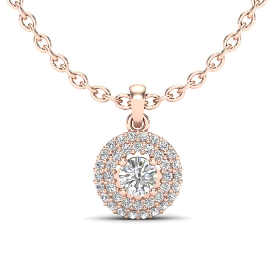 0.60 CTW Micro Pave VS/SI Diamond Designer Necklace 14K