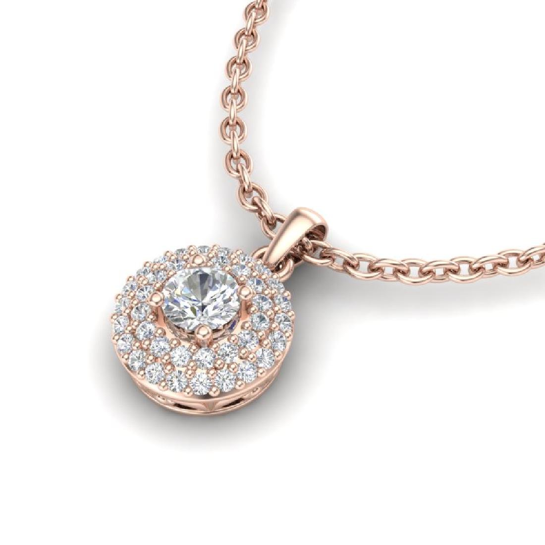 0.60 CTW Micro Pave VS/SI Diamond Designer Necklace 14K - 2