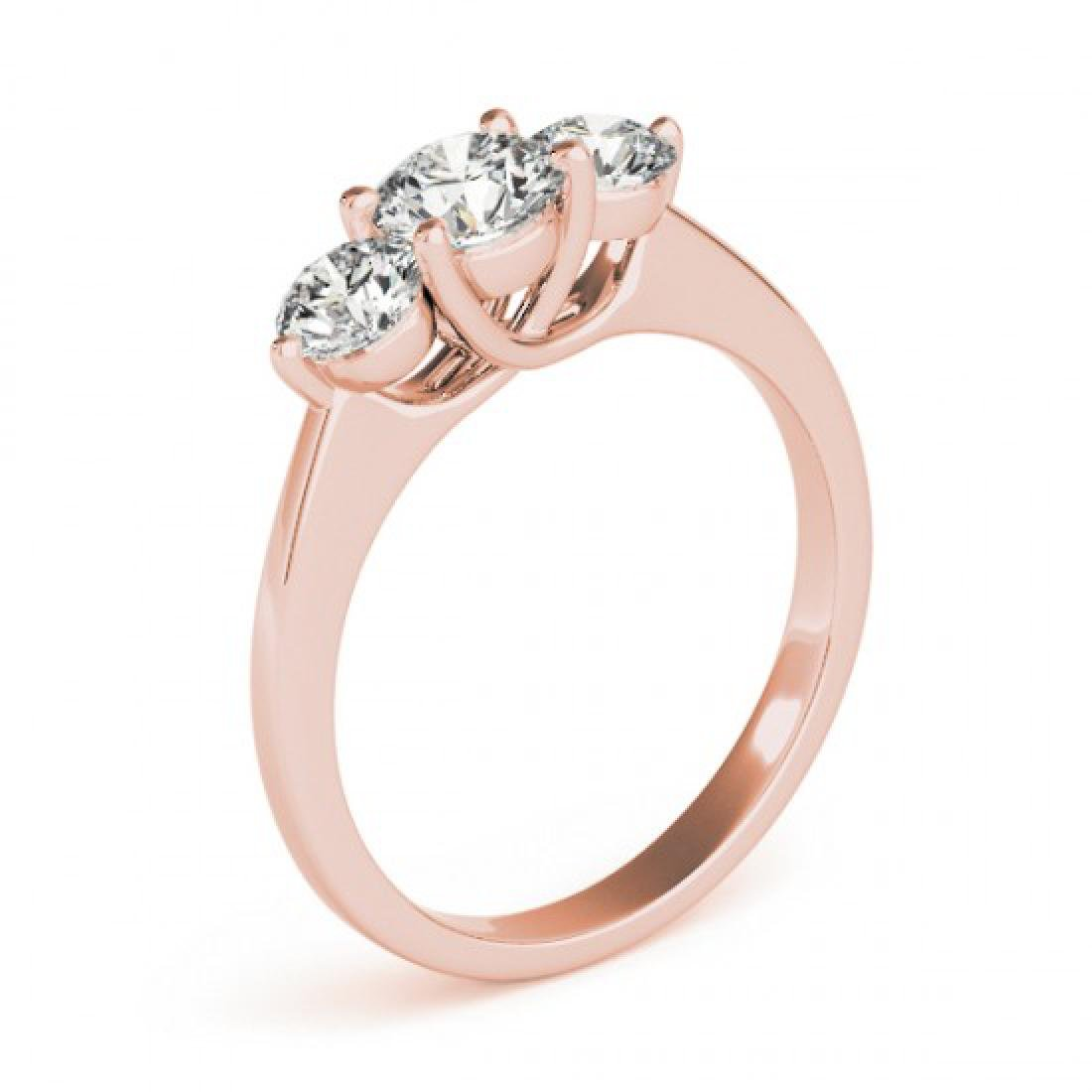 0.5 CTW Certified VS/SI Diamond 3 Stone Solitaire Ring - 3