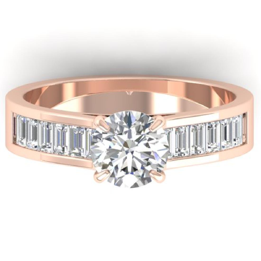 1.75 CTW Certified VS/SI Diamond Solitaire Art Deco