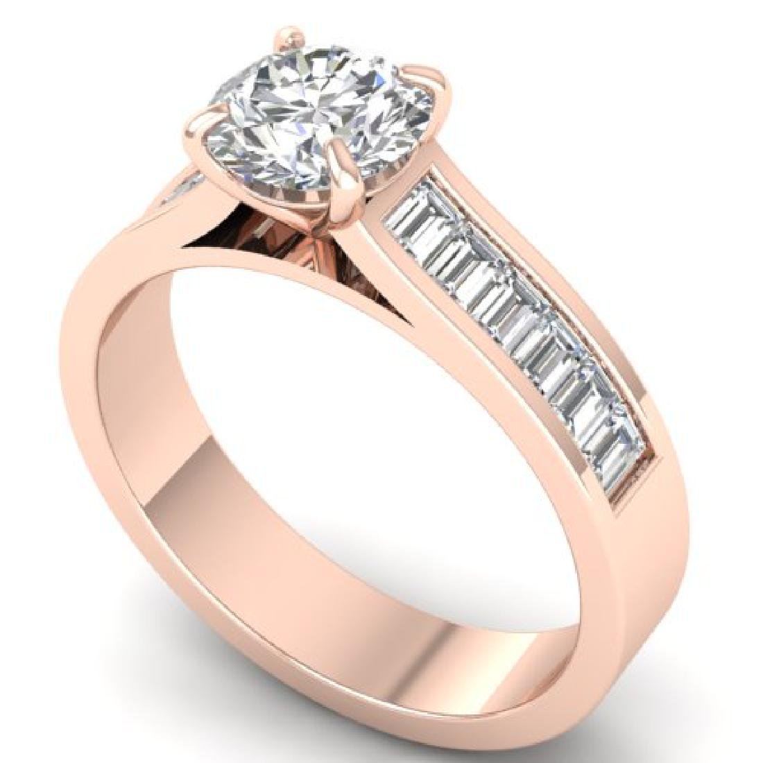 1.75 CTW Certified VS/SI Diamond Solitaire Art Deco - 2