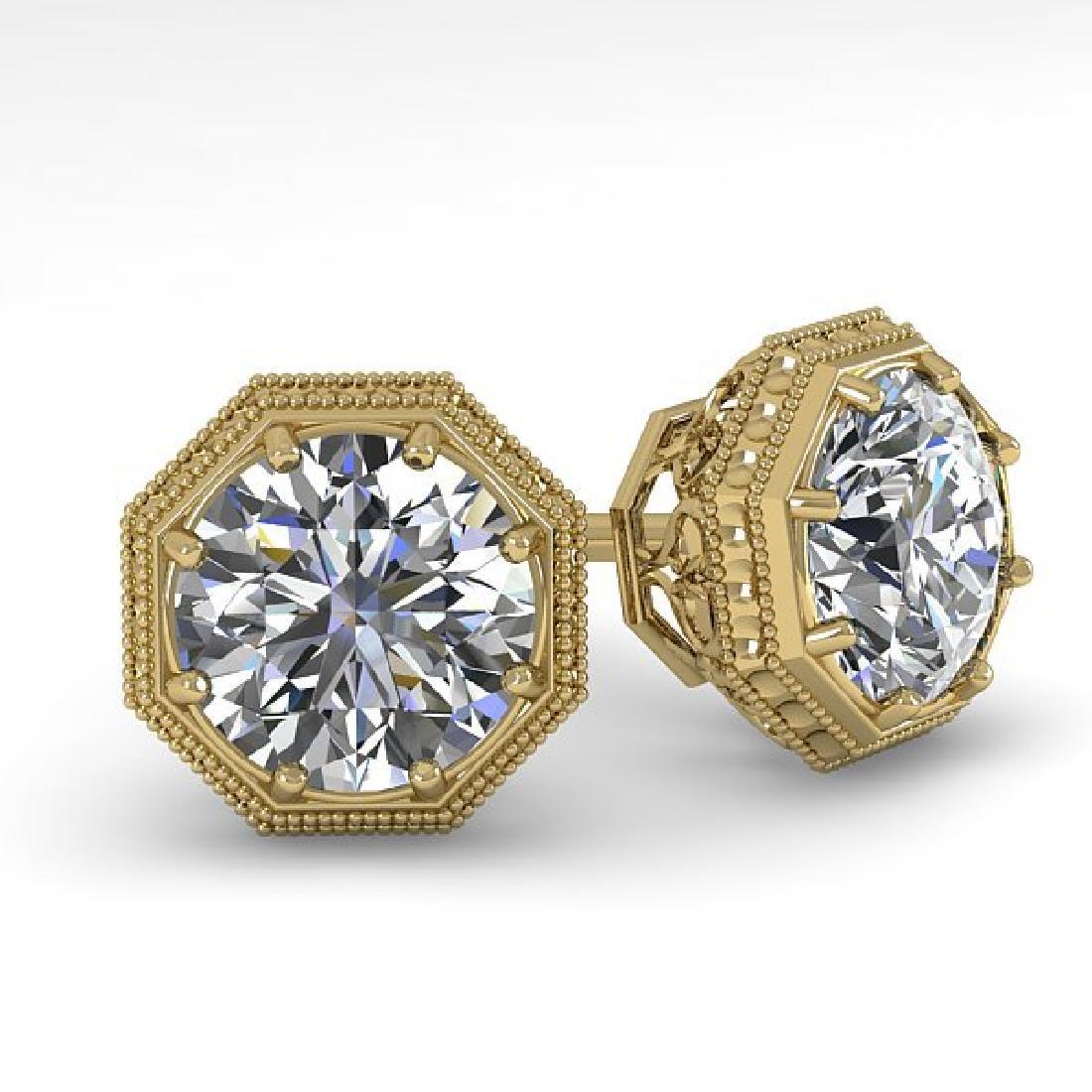 1.53 CTW Certified VS/SI Diamond Stud Earrings 14K