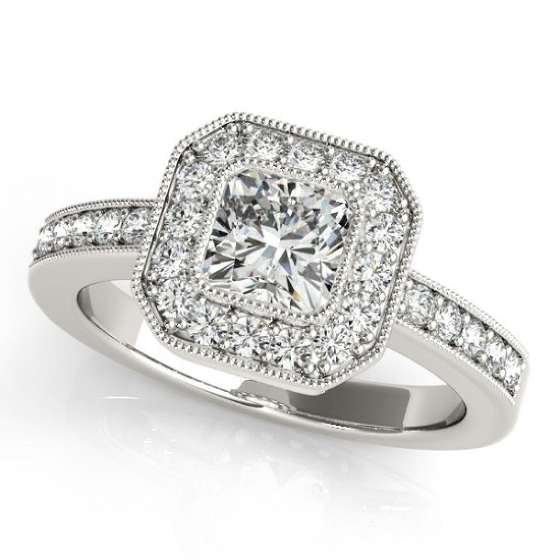 0.8 CTW Certified VS/SI Cushion Diamond Solitaire Halo