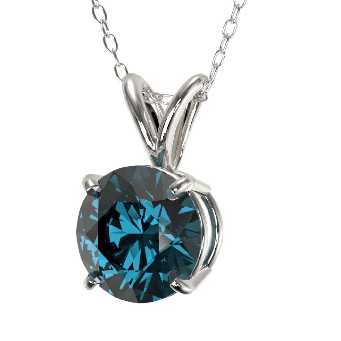 1.19 CTW Certified Intense Blue SI Diamond Solitaire - 2