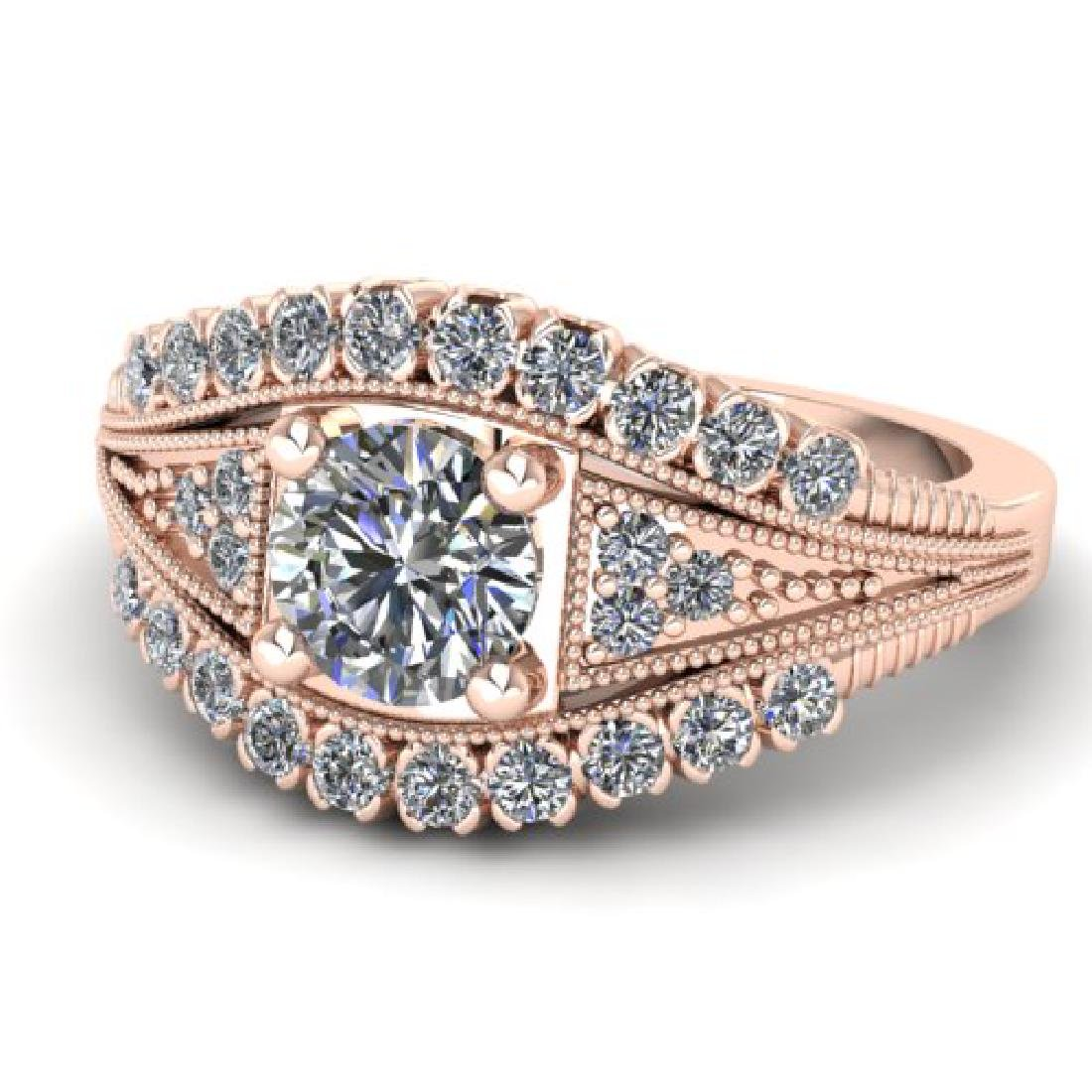 1.50 CTW Solitaire Certified VS/SI Diamond Ring 18K - 2