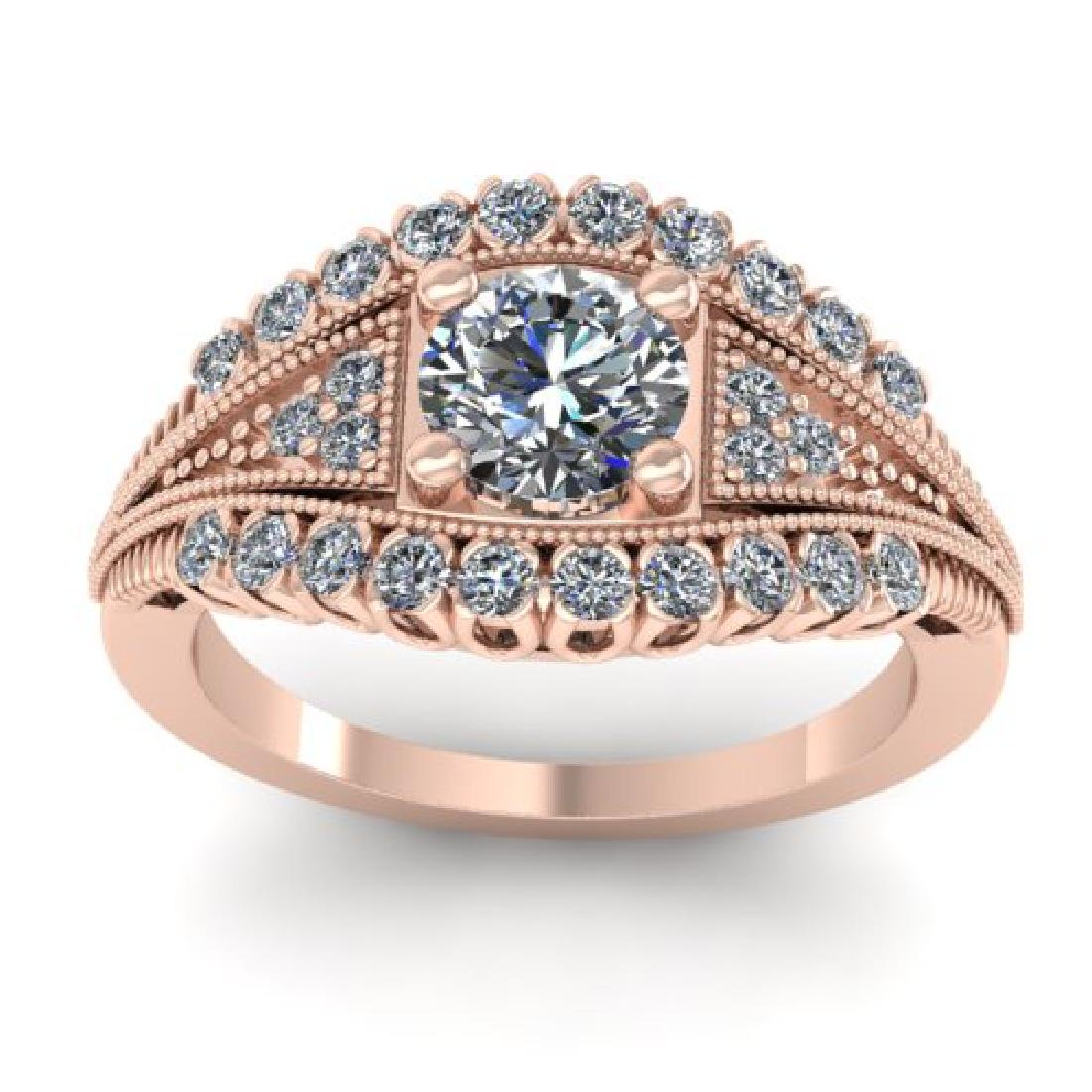 1.50 CTW Solitaire Certified VS/SI Diamond Ring 18K - 3