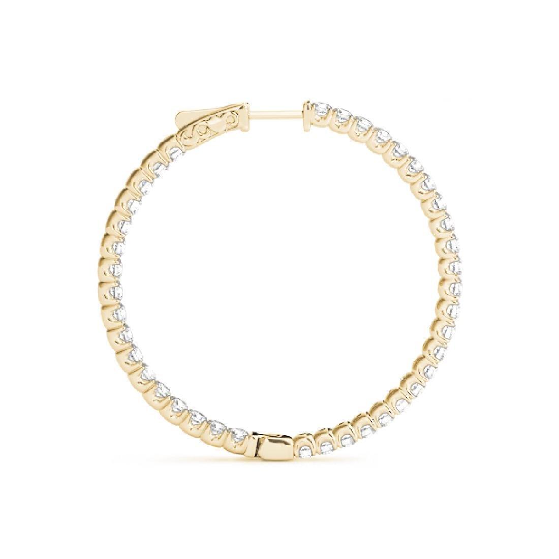 3.33 CTW Diamond VS/SI Certified 44 Mm Hoop Earrings - 3
