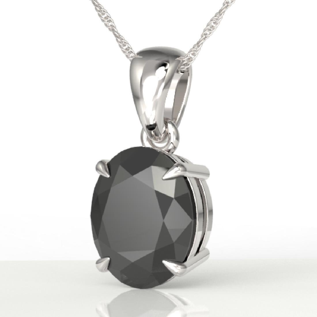5 CTW Black VS/SI Diamond Designer Solitaire Necklace