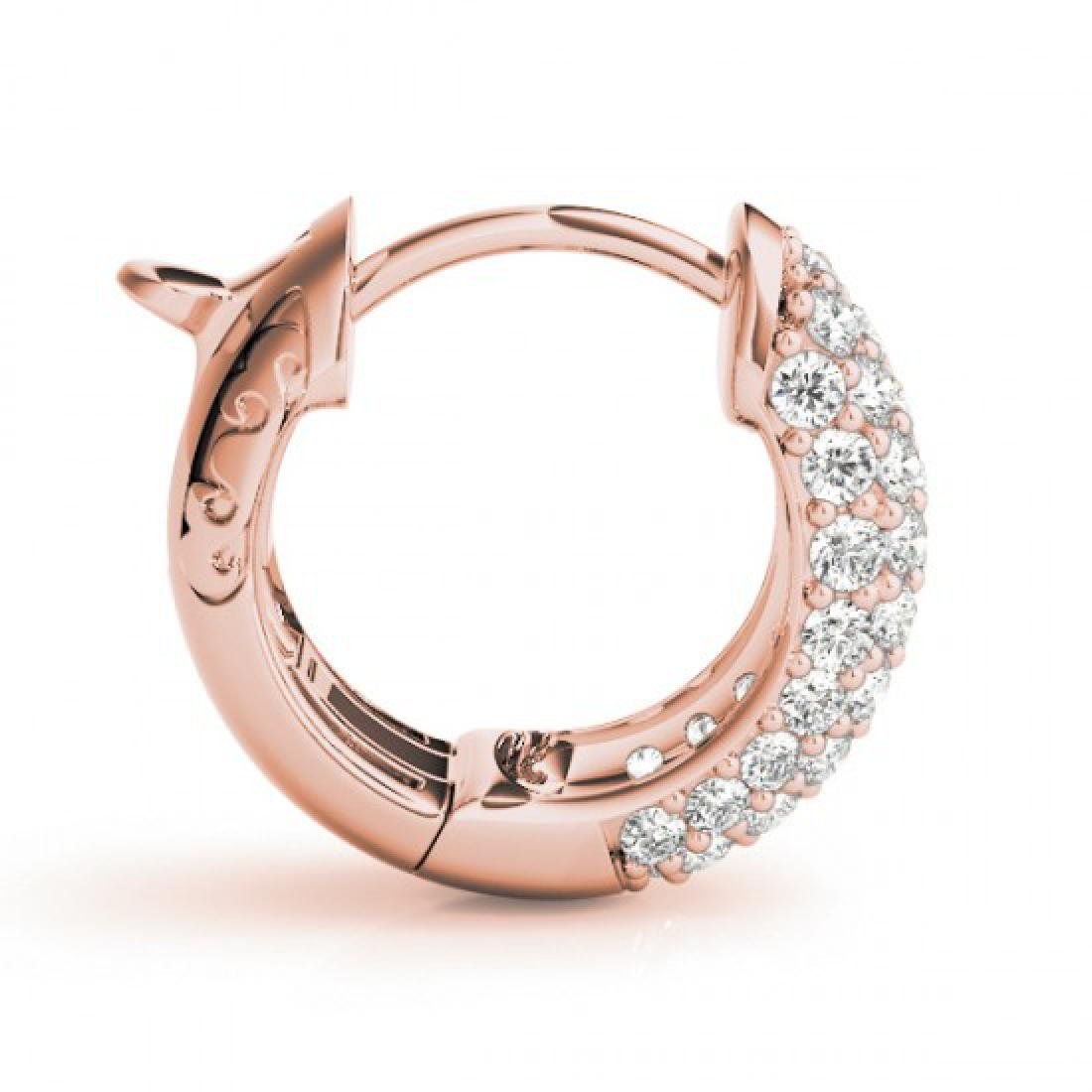 1 CTW Diamond VS/SI Certified Hoop Earrings 14K Rose - 2